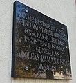 Lazdijai, Ramanausko-Vanago atminimo lenta.JPG
