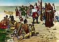 Le 9 avril 1682 - Rene-Robert de La Salle erige une croix.jpg