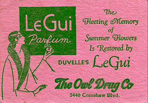 The Owl Drug Company - A perfume card from the 1920s