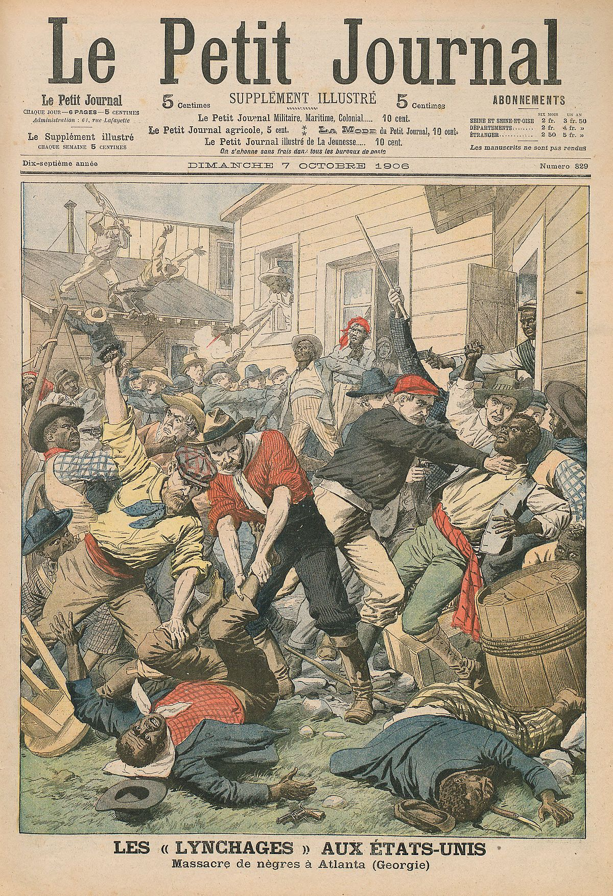Atlanta race riot wikipedia - Sticker le petit journal ...