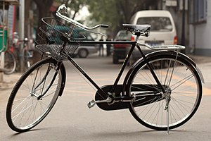 Vehicle - The most common model of vehicle in the world, the Flying Pigeon bicycle.