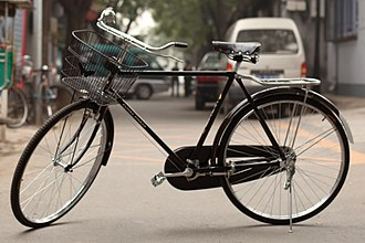 Vehicle - The most common model of vehicle in the world, the Flying Pigeon bicycle. (2011)
