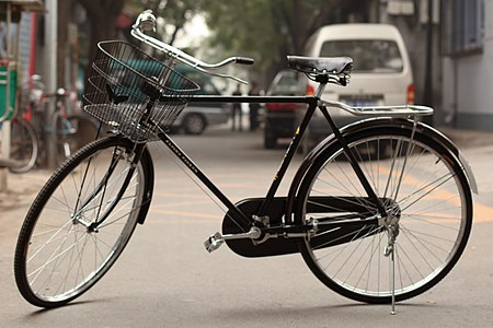 The most popular bicycle model--and most popular vehicle of any kind in the world--is the Chinese Flying Pigeon, with about 500 million produced. Left side of Flying Pigeon.jpg