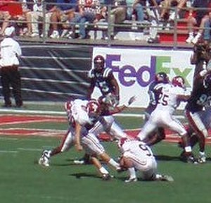 Leigh Tiffin - Tiffin kicking an extra point for Alabama