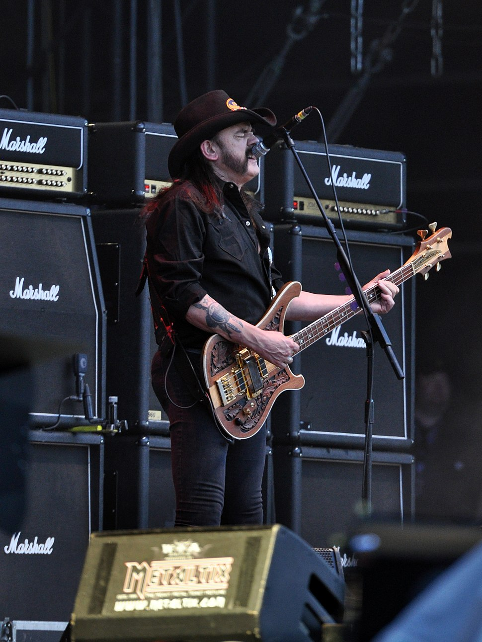 Lemmy Kilmister of Mot%C3%B6rhead at Wacken Open Air 2013