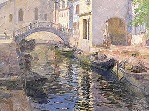 Leonardo Bazzaro - Image: Leonardo Bazzaro Kanal in Venedig