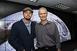 Leonardo DiCaprio visited Goddard Saturday to discuss Earth science with Piers Sellers (26105091624).jpg