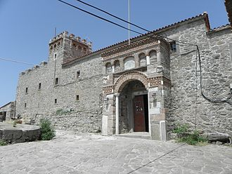 Lesbos - The entrance of Ipsilou monastery (St. John).