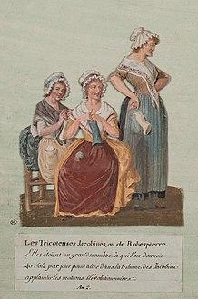 Tricoteuse knitting woman
