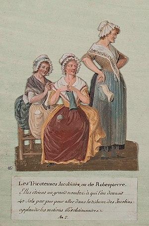 Tricoteuse - Contemporary depiction of Tricoteuses by Pierre-Étienne Lesueur