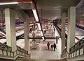 Letňany, stanice metra, nástupiště.jpg