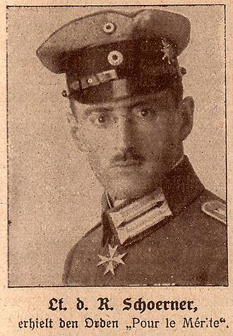 Ferdinand Schörner - Lieutenant Schoerner with the Pour le Mérite