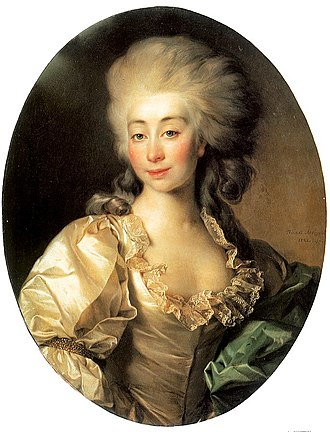 Michał Jerzy Mniszech - His wife, Urszula Zamoyska by Dmitri Levitsky.