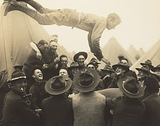 Lewis Hine - Soldier Thrown in Air, 1917, National Gallery of Art