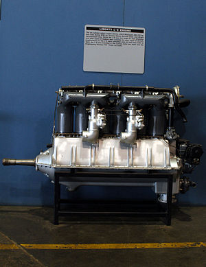 Liberty L-6 - Liberty L-6 aircraft engine on display at the National Museum of the United States Air Force