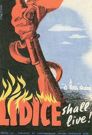 "Lou Kenton - British ""Lidice shall live"" poster"