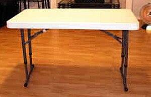 Folding table - Image: Lifetime Table
