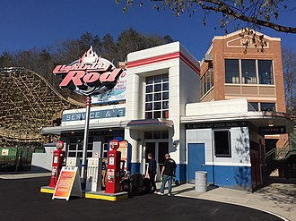 Lightning Rod (roller coaster) - Image: Lightning Rod Entrance