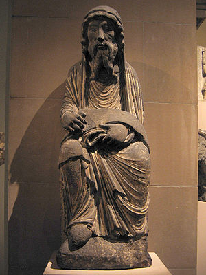 1170s in art - Unknown artist, Limestone Sculpture of the Old Testament Priest Aaron, c. 1170