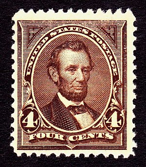 Definitive Postage Stamp of Abraham Lincoln, 1...