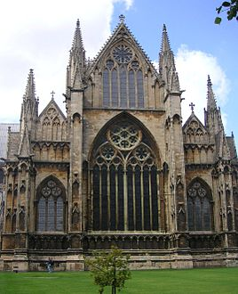 Lincoln Cathedral England Has The Cliff Like Buttressed East End Usual In English Gothic Churches