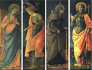 The Annunciation, Saints Anthony Abate, John the Baptist