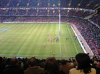 Anglo-Welsh Cup - The Scarlets playing Bath at the Millennium Stadium