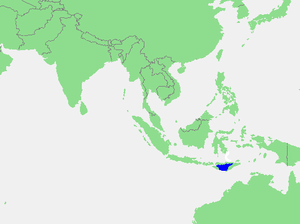 Savu Sea - Location of Savu Sea within Southeast Asia
