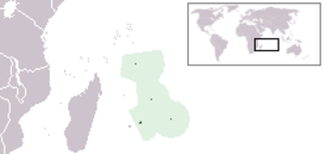 Outline of Mauritius - The location of Mauritius