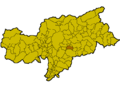 Location of Lajen (Italy).png