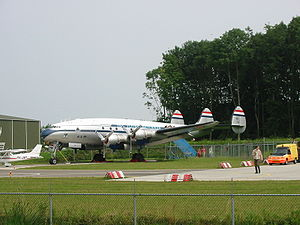Lockheed L-749 Constellation - The Aviadrome's C-121A Constellation in the colors of a KLM L-749.