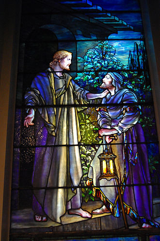 Lockport (city), New York - Louis Tiffany stained glass window at the First Presbyterian Church