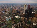 Looking Northeast from CN Tower, Toronto, Ontario (21653367319).jpg