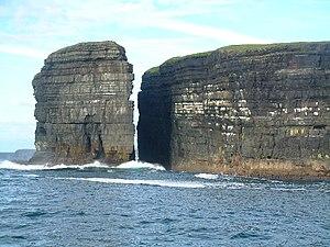 Geology of Ireland - Layers of Upper Carboniferous (Namurian) sedimentary rocks, Loop Head, County Clare