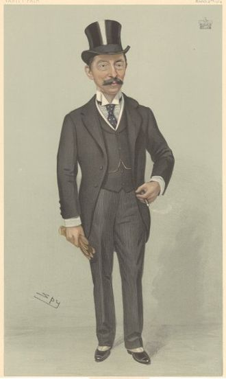 Henry Northcote, 1st Baron Northcote - Northcote caricatured by Spy for Vanity Fair, 1904
