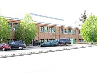 Lord Tweedsmuir Secondary School - Image: Lord Tweedsmuir (along 180 Street)