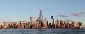 One World Trade Center dominates the Lower Manhattan skyline