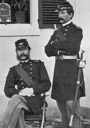 Battle of Tulifinny - 2Lt (Brevet LtCol) George Stoddard (standing) who commanded a battalion of US Marines at Tulifinny