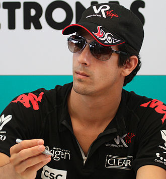 2014–15 Formula E season - Lucas di Grassi (pictured in 2010) won the first Formula E race, and finished the season third.