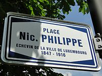 Luxembourg, Place Nic. Philippe - nom de rue.jpg