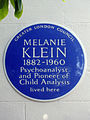 MELANIE KLEIN 1882-1960 Psychoanalyst and Pioneer of Child Analysis lived here.jpg