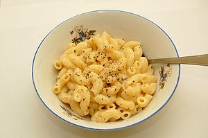 Home made macaroni and cheese, with some dried...