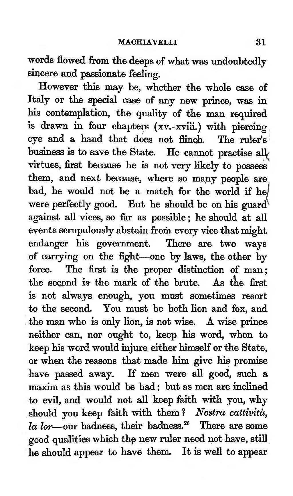 machiavelli ruler qualities