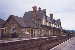 Machynlleth railway station - Image: Machynlleth Station geograph.org.uk 165564