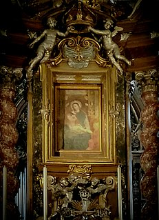 Canonical coronation Catholic ceremonial crowning of an image of Mary or Jesus