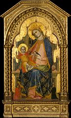 Madonna and Child Enthroned with Two Donors