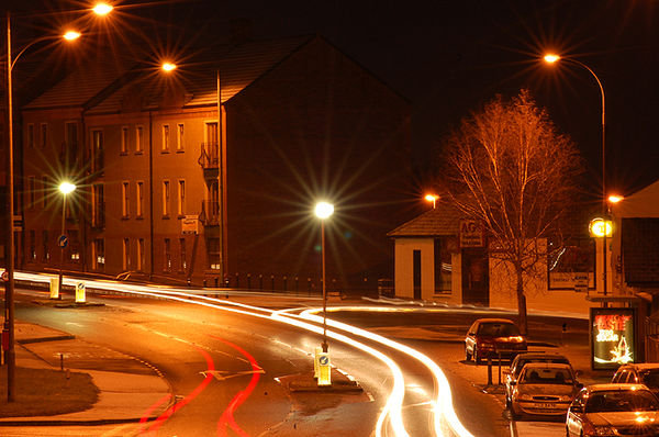Magheralin at night. Photo: George Malcolm