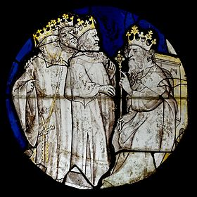 Grisaille stained glass (15th century) Magi Herod MNMA Cl23532.jpg