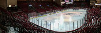 Denver Pioneers men's ice hockey - Magness Arena looking northwest