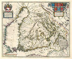 Suomen suuriruhtinaskunnan ymmärrettiin 1600-luvun puolivälissä käsittävän osapuilleen Tarton rauhan rajojen mukaisen Suomen ja Länsipohjan